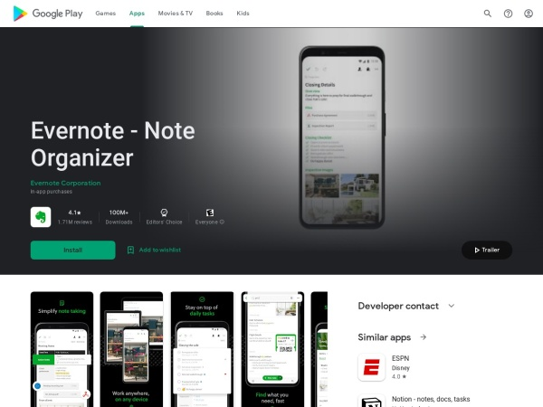 Evernote - 15 Best Office App for Android and iOS (2020)