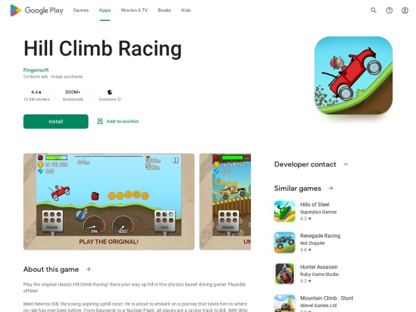 Hill-Climb-Racing - Top 15 Cool Android Games under 50MB (You Must Download)