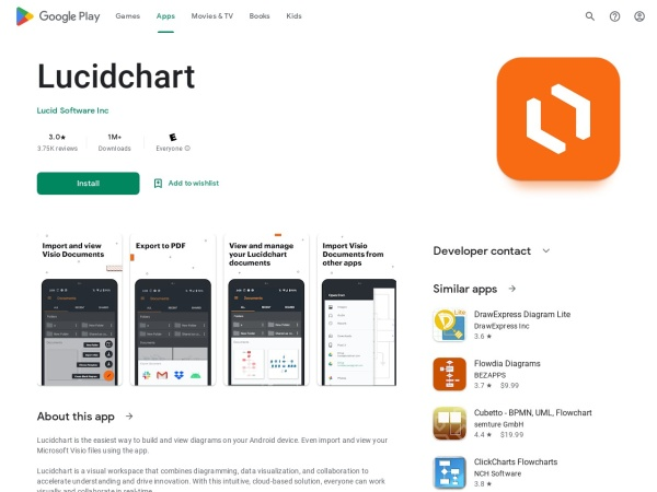 Lucidchart - 15 Best Office App for Android and iOS (2020)