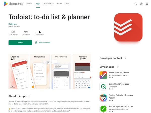 Todoist - 15 Best Office App for Android and iOS (2020)