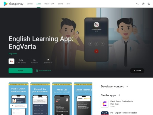 EngVarta – English Learning App with live English experts