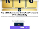 Play A23 Indian Rummy Online Card Games and Win Real Cash Prizes Daily