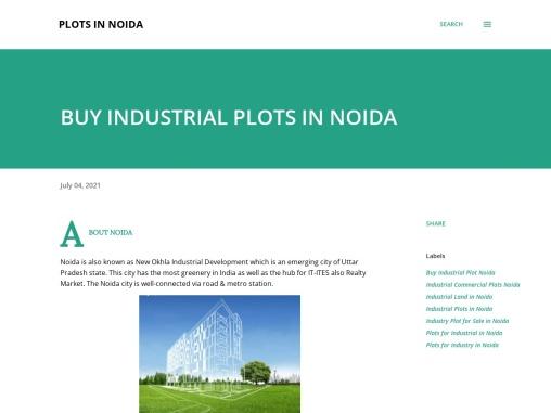 Affordable Industrial Plots in Noida