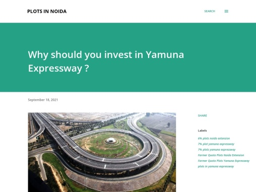 Why should you invest in Yamuna Expressway ?