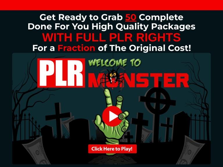 PLR Monster Coupons and Discounts May 2021 screenshot