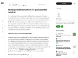 Raining in bathroom check for quick plumber services
