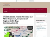 Human Insulin Market Potential and Niche Segments, Geographical Regions Exhibiting Promising Growth