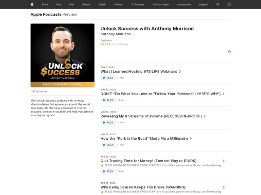 Unlock Success With Anthony Morrison | Listen Podcast