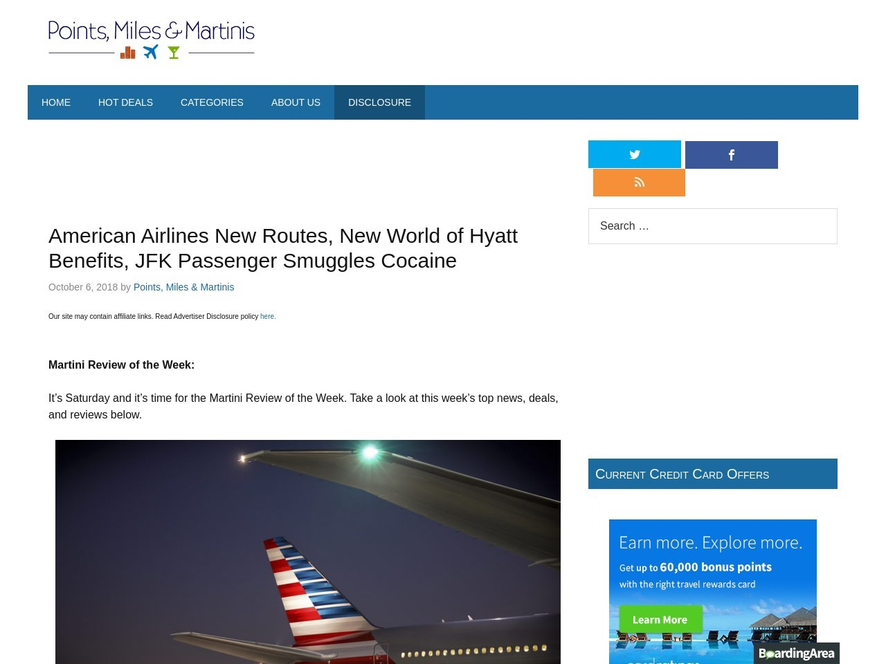 American Airlines New Routes, New World of Hyatt Advantages, JFK…