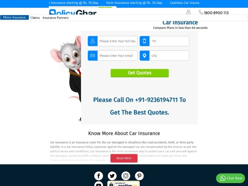 Provide security to your vehicle, Buy Car Insurance!
