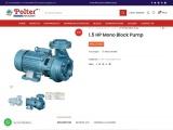 1.5 HP Mono Block Pump | Buy Monoblock Pump Online | Polter Pumps | Monoblock Pump in India