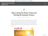 Tips to Keep the Water Tank Cool During the Summer Season