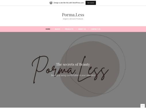Porma.Less Organic Skincare Products