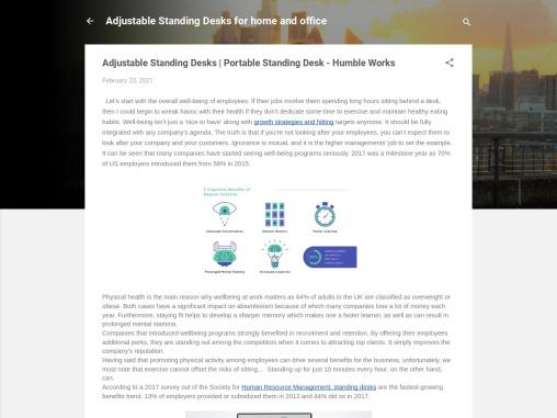 Adjustable Standing Desks | Portable Standing Desk – Humble Works