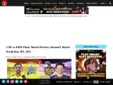 CSK vs KKR Final, Match Preview, Dream11 Match Prediction, IPL 2021