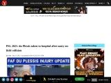 PSL 2021: Faf du Plessis taken to hospital after nasty on-field collision