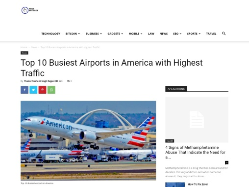Top 10 Busiest Airports in America with Highest Traffic