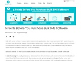 5 Points before you buy Bulk SMS Software