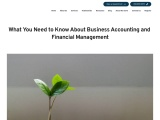 What You Need to Know About Business Accounting and Financial Management