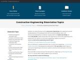construction law dissertation topics