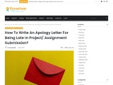 How To Write An Apology Letter For Being Late