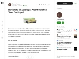 Here's Why Ink Cartridges Are Different from Toner Cartridges!