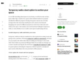 Temporary walls a best option to section your space