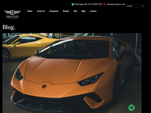 Why Should You Rent a Luxury Car in Dubai