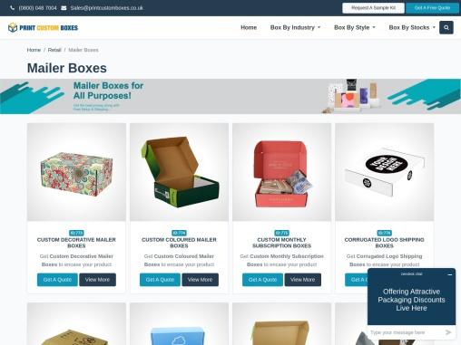 Custom Mailer Boxes – Custom Mailer Packaging Boxes