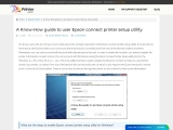 How guide to user Epson connect printer setup utility | Printerassists?