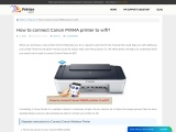 How to connect Canon PIXMA printer to wifi?
