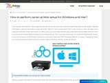 How to perform canon printer setup for Windows and Mac?