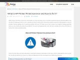 What is HP Printer 79 Service Error and how to fix it?