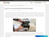 Why is my Lexmark printer printing blank pages?