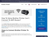Brother Printer Won't Connect To WiFi   Guidance for Fixing the Issue