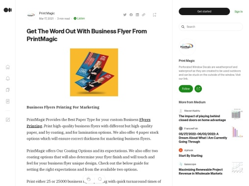 What is Business Flyers? Order online Business Flyers