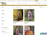 Buy Online Block Printed Designer Sarees