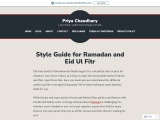 Style Guide for Ramadan and Eid Ul Fitr