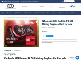 Wholesale MSI Radeon RX 580 Mining Graphics Card for sale