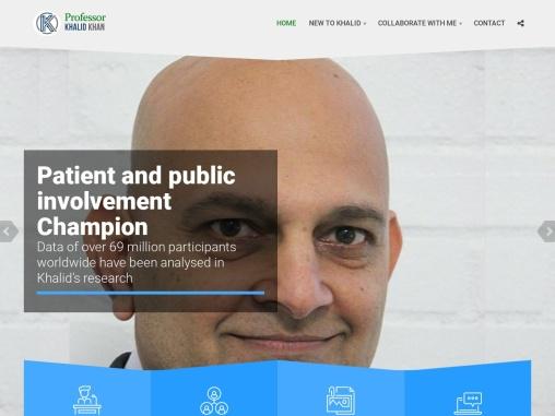 Professor Khalid Khan    research
