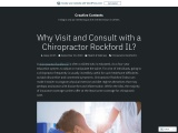 Why Visit and Consult with a Chiropractor Rockford IL?