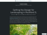 Getting the Design for Landscaping in Rockford IL