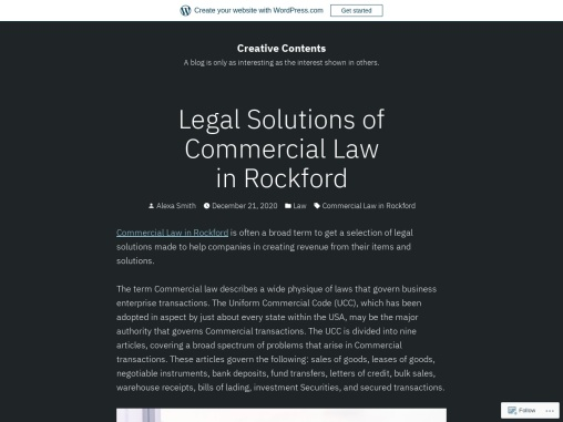 Legal Solutions of Commercial Law in Rockford