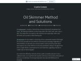 Oil Skimmer Method and Solutions