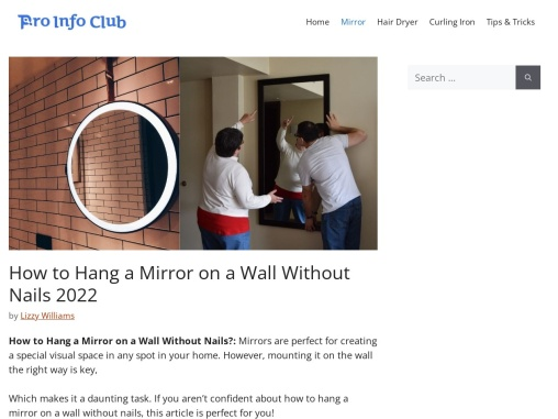 How to hang mirror on wall without nails