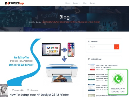 How to connect HP Deskjet 2542 to Wi-Fi on Mac?