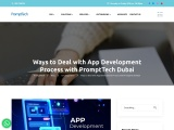 Ways to Deal with App Development Process with PromptTech Dubai