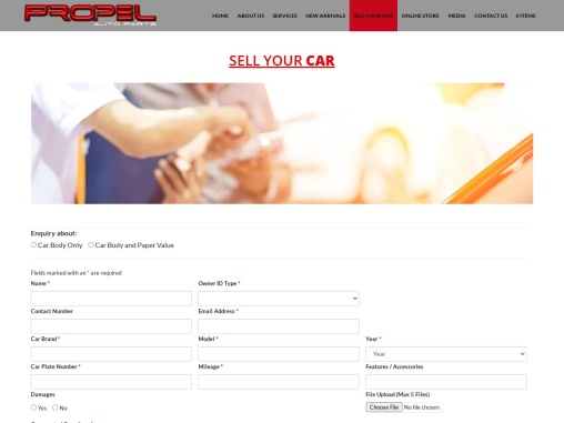 Sell a Used European Continental car