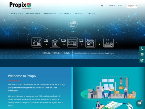 Propixtech Machine Vision Inspection Systems   Track & Trace Solutions