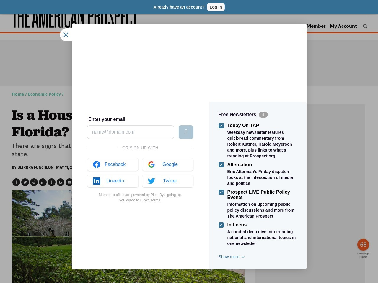 Is a Housing Crash Coming to Florida? – The American Prospect